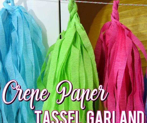 How to Make Tassel Garland using Crepe Paper Streamers