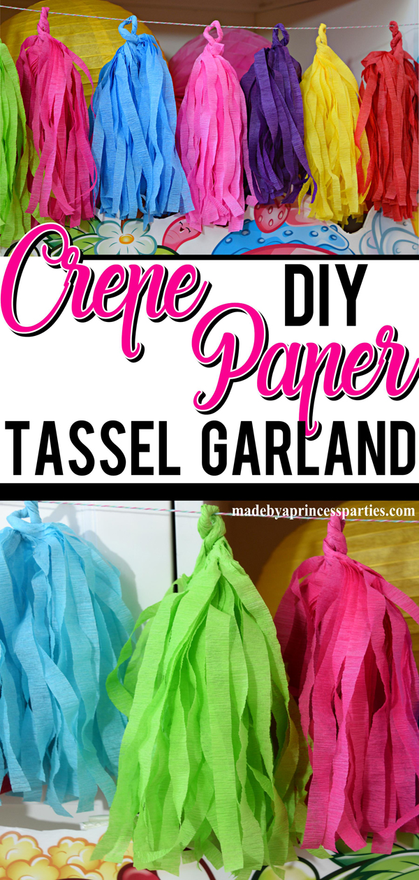 How to Make Tassel Garland using Crepe Paper