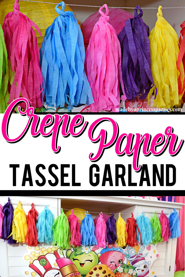 How to Make Tassel Garland with Crepe Paper are fun quick and easy to make