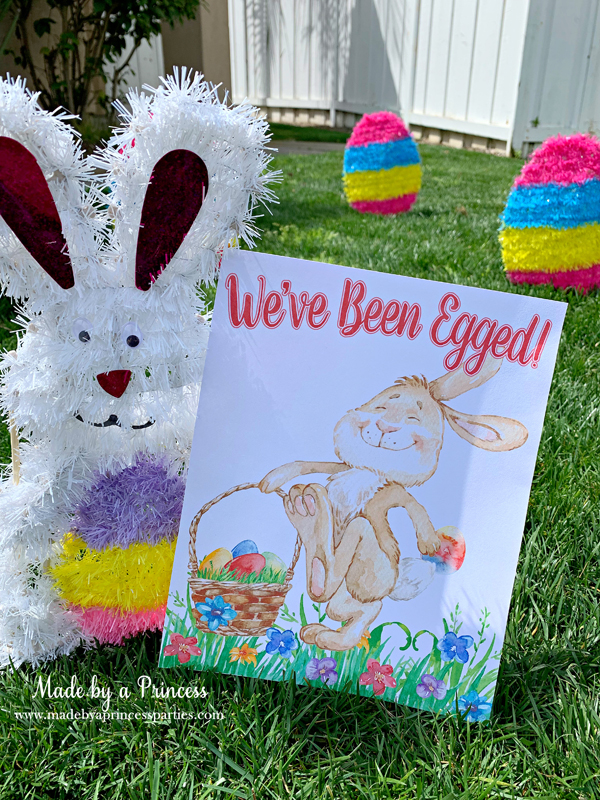 You've Been Egged Poem Printable Easter Activity We've Been Egged sign