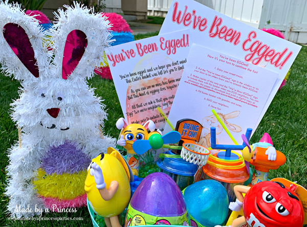 You've Been Egged Poem Printable Easter Activity basket of candy from CandyRific