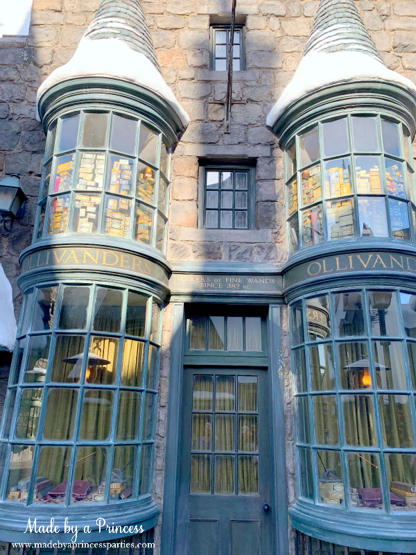 Universal Studios Hollywood Hogsmeade stores Ollivanders where you buy interactive wands