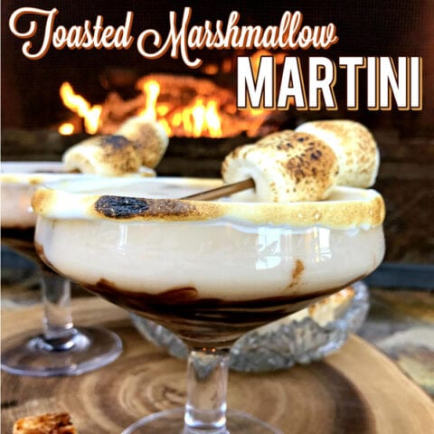 Get the fireplace ready because we are toasting some marshmallows and making a Dark Chocolate Toasted Marshmallow Martini