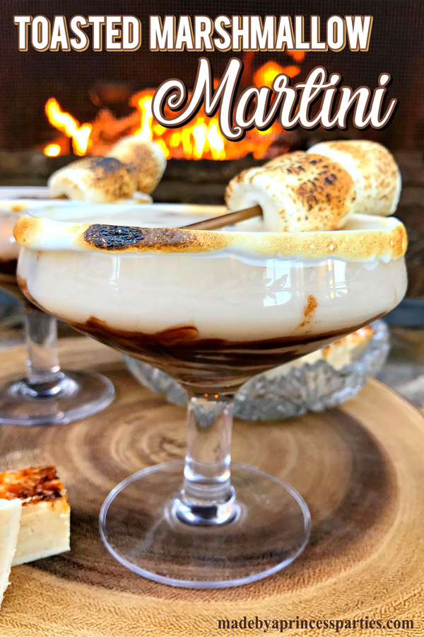 Get the fireplace ready because we are toasting some marshmallows and making a Dark Chocolate Toasted Marshmallow Martini #toranisyrup #toastedmarshmallow