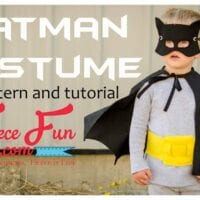 Classic Batman Cape Costume Tutorial DIY