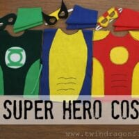 No Sew SUPER HERO COSTUMES Tutorial » Dragonfly Designs