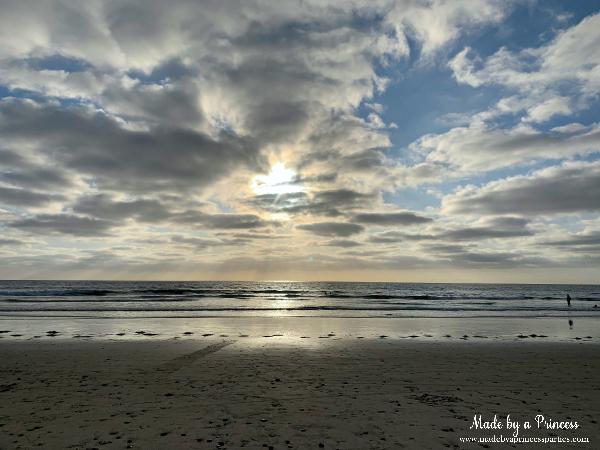 Enjoying the sunset at Pontos State Beach in Carlsbad