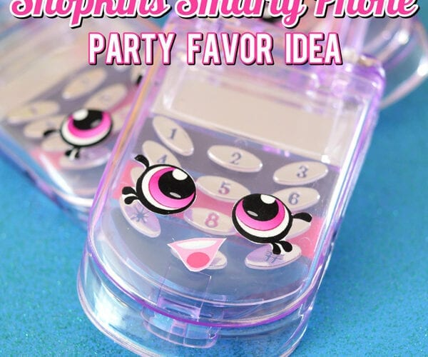 Shopkins Smarty Phone Party Favor