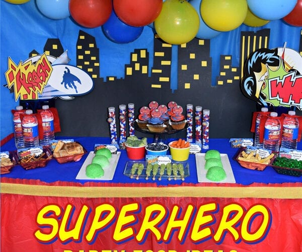 Superhero Inspired Party Food Ideas Free Printables
