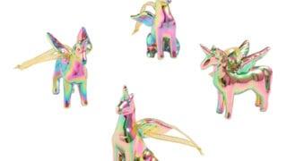Iridescent Unicorn Ornaments Set of 4