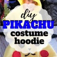 DIY Pikachu Costume Hoodie + Free Template