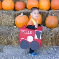 DIY Fire Truck Costume