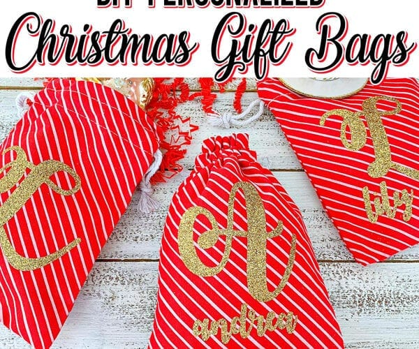 Personalized Christmas Gift Bags in Under 15 Minutes