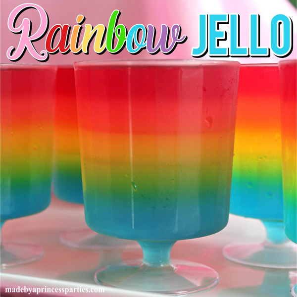 Make a rainbow using a variety of Jell-O flavors