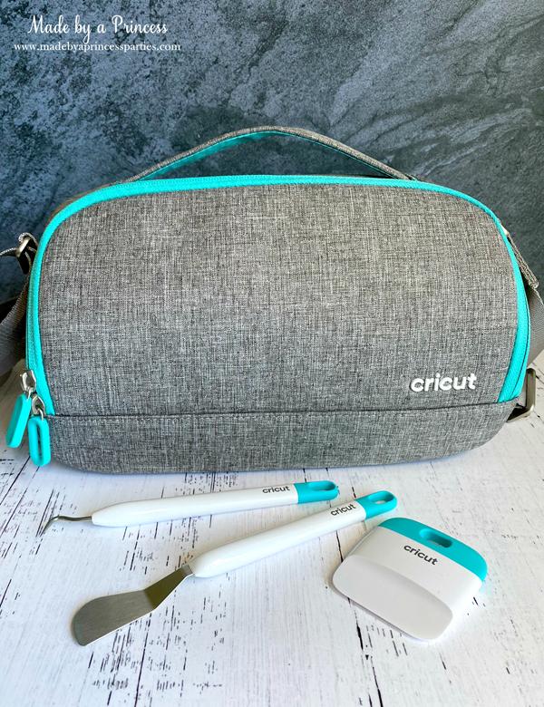 Cricut Joy in carrying case with new Cricut Joy tools