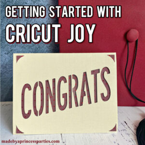 Getting started with Cricut Joy