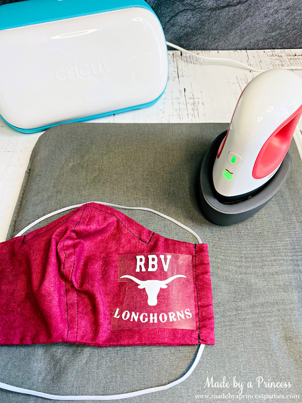 Customize your cloth face mask with iron on vinyl