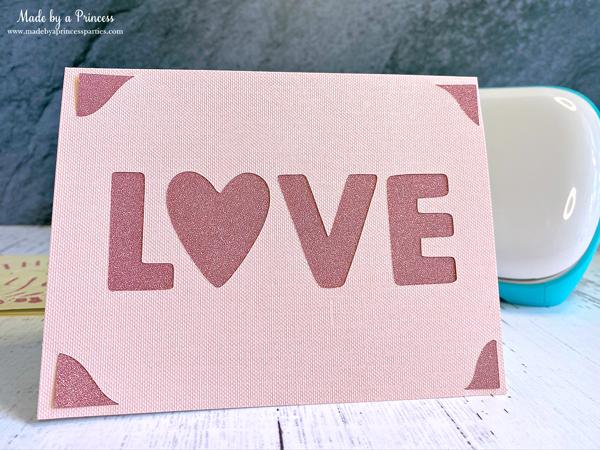 LOVE card made with Cricut Joy