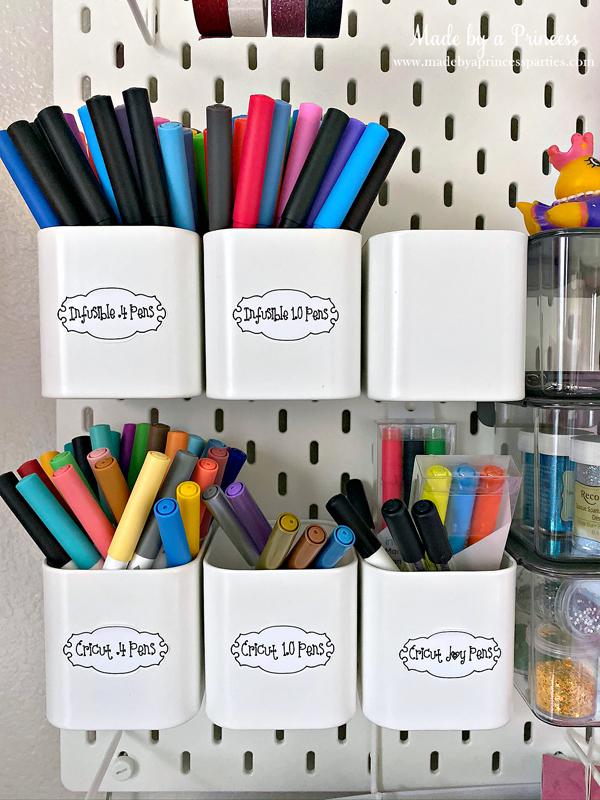 Make labels for your office using Cricut Joy Writable Vinyl