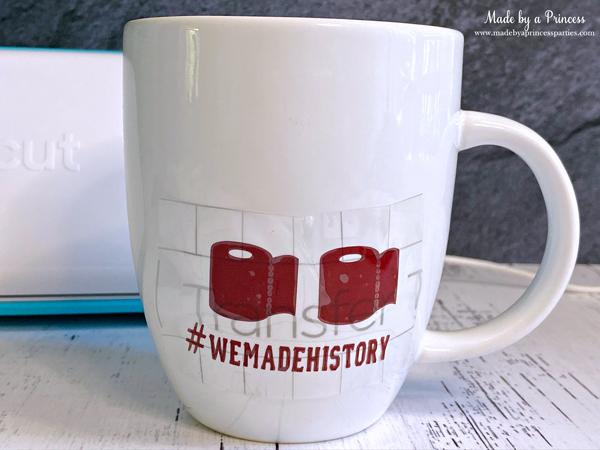 Place first layer on mug