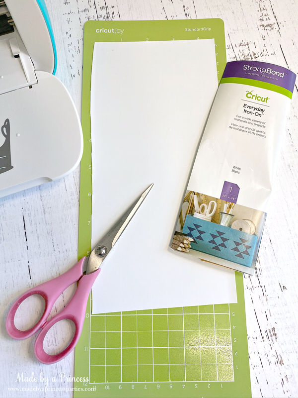 You can use regular Cricut iron on vinyl with Cricut Joy just trim and place on the mat